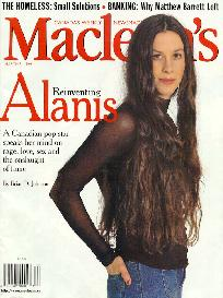 Alanis on the cover of Maclean's magazine